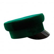 Кепи-картуз бархатный зеленый цвет T167