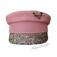 Картуз розовый с пайетками T204