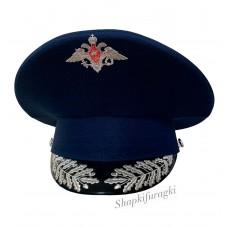 Фуражка модельная синяя с машинной вышивкой OF045