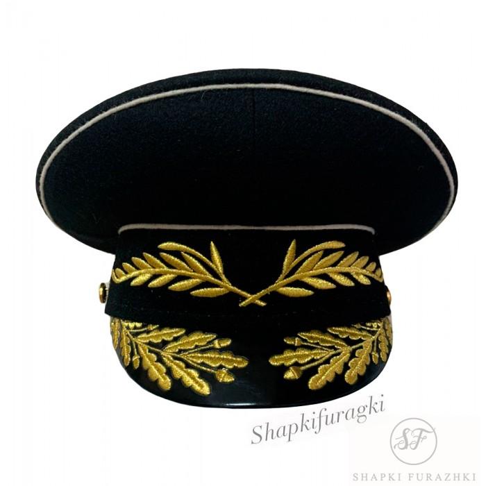 Фуражка ВМФ офицерская модельная с машинной вышивкой