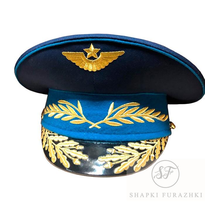 Фуражка ВВС для Росгвардии, машинная вышивка F278