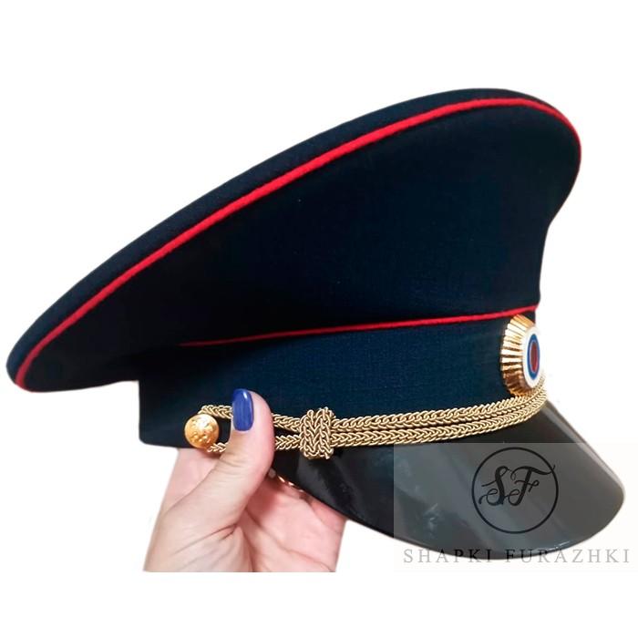 Фуражка Полиции, индивидуальный пошив, ткань рипстоп, высокая тулья F013-2