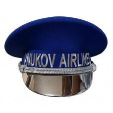 Фуражка VNUKOVO AIRLINES, козырек серебро лак 247