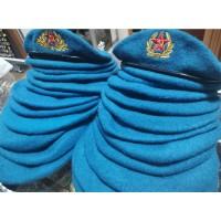 Берет ВДВ голубой с вышивкой B005