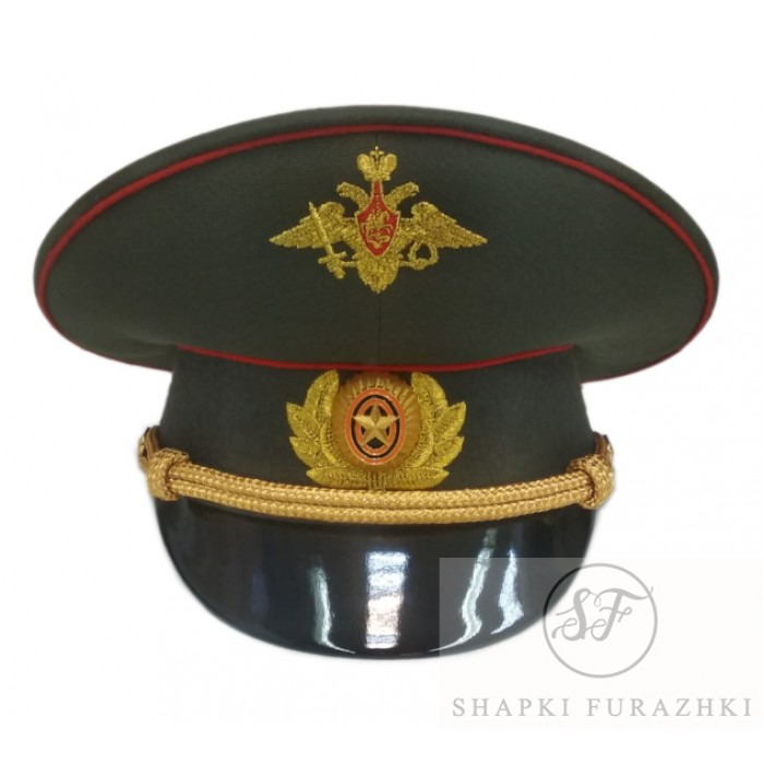 Фуражка М.О. с машинной вышивкой офицерская старого образца F150