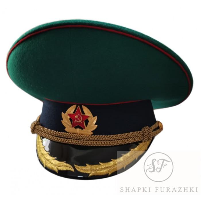 Фуражка Пограничных войск СССР с машинной вышивкой, тулья 9,5 см