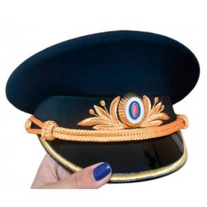 Фуражка Полиции машинная вышивка, индивидуальный пошив F013-3