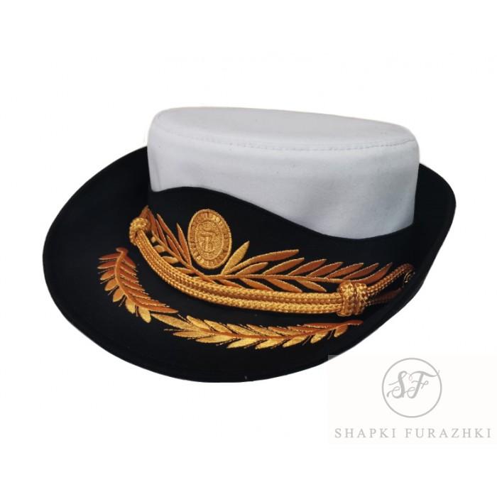 Женская шляпка для парадной формы нового образца, индивидуальный пошив, машинная вышивка F157