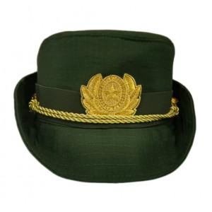 Женская офисная шапочка олива F155