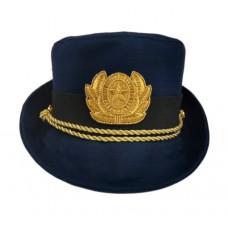 Женская офисная шапочка синий F156