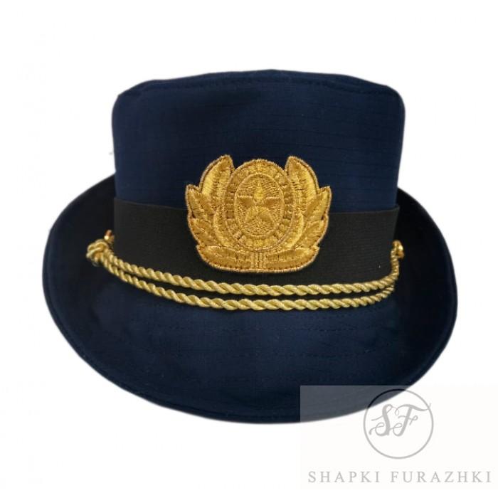 Женская офисная шапочка синий рипстоп F156