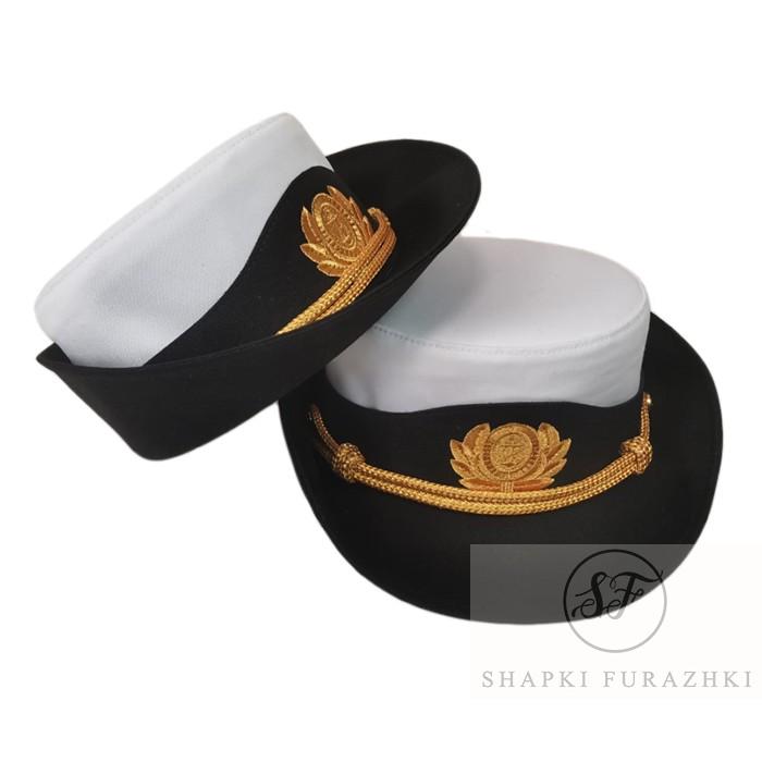 Шапочка женская ВМФ нового образца, индивидуальный пошив, машинная вышивка F161