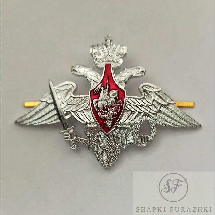 Орел на тулью фуражки МО серебро(металл) FR039