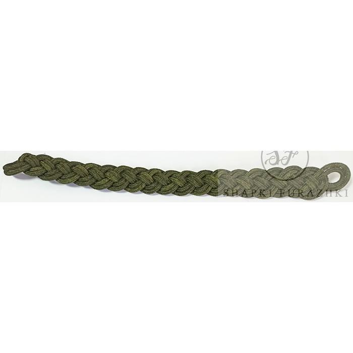 Филигранный шнур плетеный, зеленый (олива) FR029