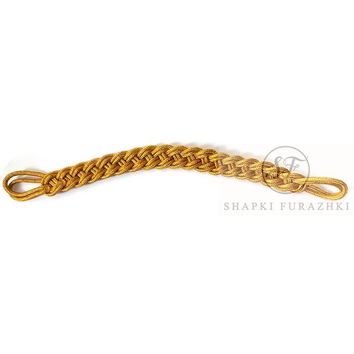 Филигранный шнур плетеный золотистый, металлизированная нить FR031