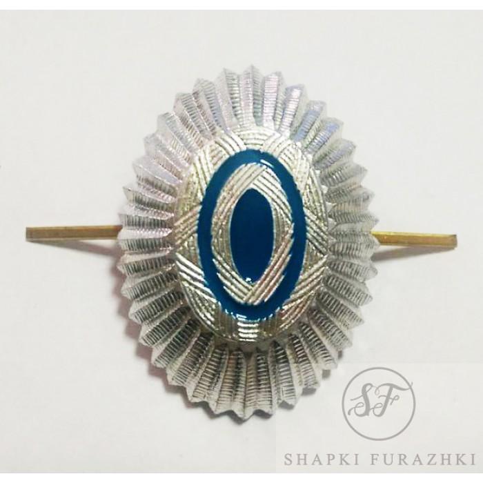 Кокарда металл, голубая эмаль, казачество, офицерский состав FR018