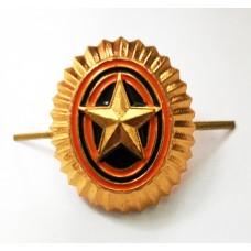Кокарда-овал ВС РФ со звездой FR003