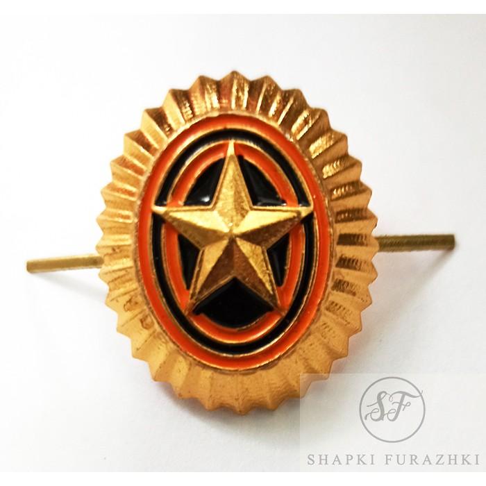 Кокарда-овал ВС РФ со звездой, рядовой состав FR003