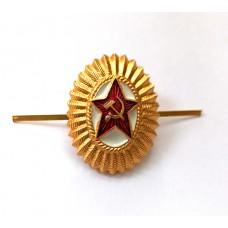 Кокарда звезда серп и молот овал СССР FR015