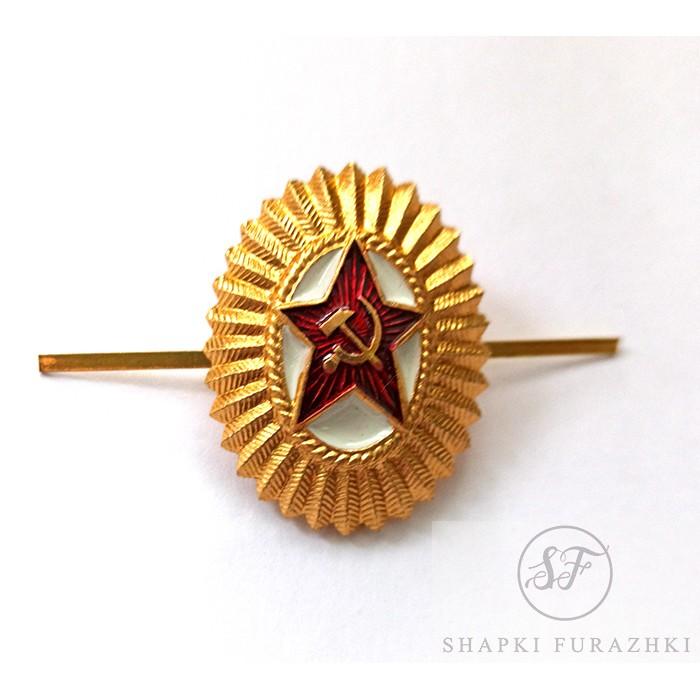 Кокарда звезда серп и молот овал СССР