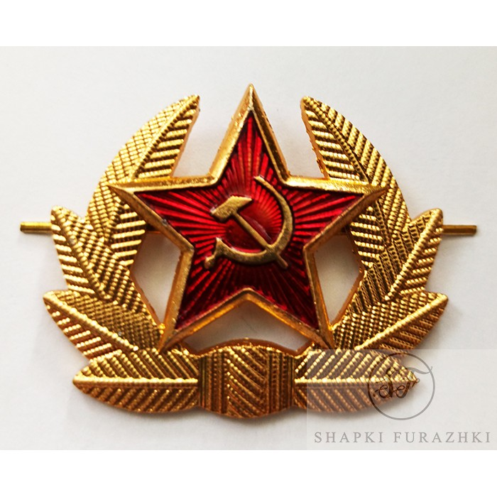 Кокарда рядового состава СССР (звезда в венке) FR005