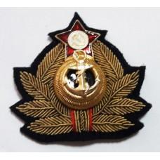 Кокарда (краб) ВМФ СССР KRV001 ручная вышивка