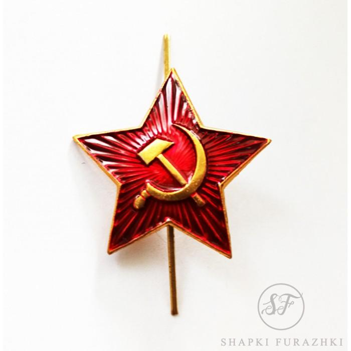 Кокарда Звезда РККА на головной убор, рядовой состав FR004