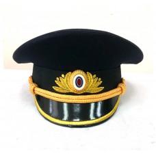 Фуражка офисная Полиции, машинная вышивка OF039