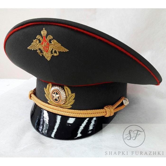 Фуражка М.О. с машинной вышивкой офицерская F005 (цена указана без учета фурнитуры и вышивки)