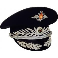 Фуражка офисная черная ручная вышивка OF011