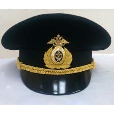 Фуражка офисная черная ВМФ OF016