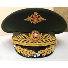 Фуражка офисная МО с орлом, кокардой и козырьком ручной вышивки OF005