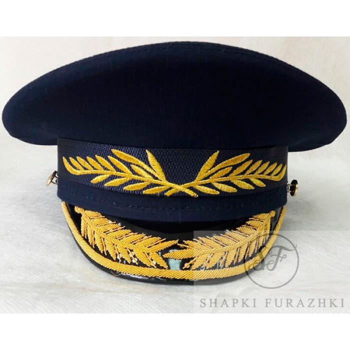 Фуражка офисная ВВС с ручной и машинной вышивкой OF020