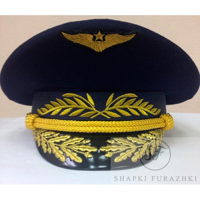 Фуражка офисная ВВС с машинной вышивкой OF017