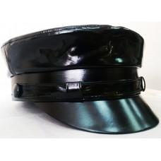 Фуражка черный лак 001
