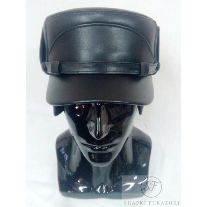 Картуз-кепи мужской из натуральной кожи Kepi013
