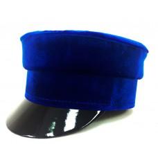 Кепи-картуз синий бархат T076
