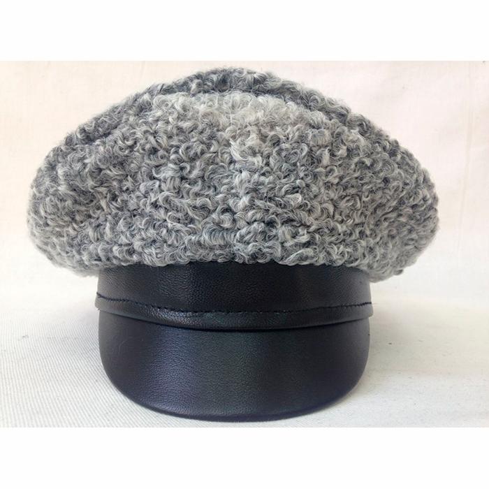 Фуражка серый каракуль SH028