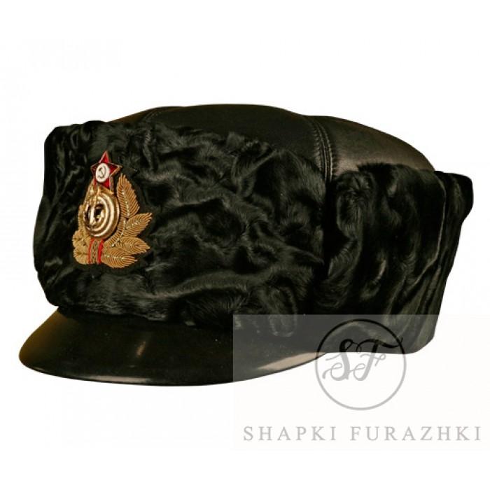 Шапка капитанов 1 ранга и полковников ВМФ РФ, черный каракуль SH004 (цена указана без учета фурнитуры и вышивки)