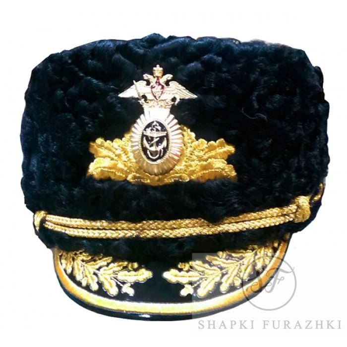 Шапка ВМФ черный каракуль SH020
