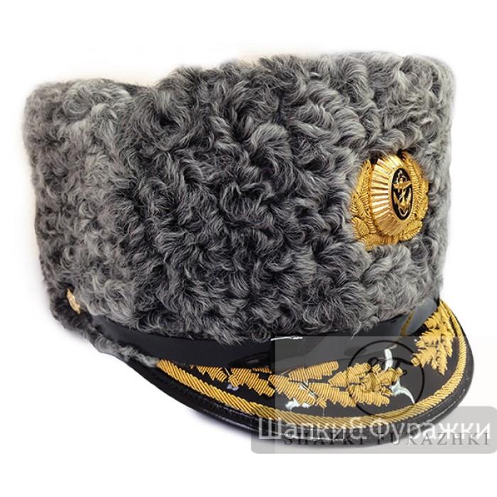 Шапка ВМФ серый каракуль SH011