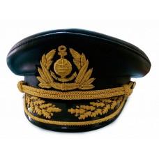 Капитанка кожаная с ручной вышивкой Y188