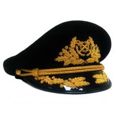 Яхтсменка кожаная черная с ручной вышивкой золотом Y154