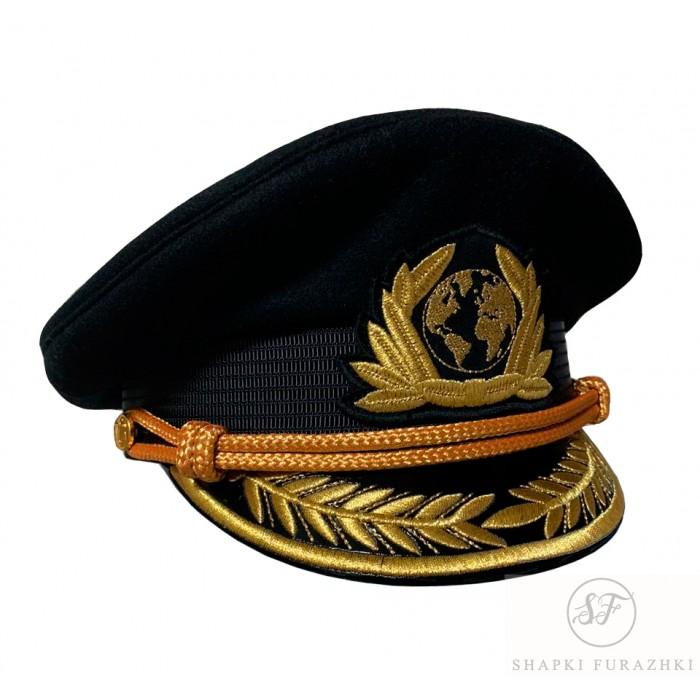 Яхтсменка черная с машинной вышивкой Y275