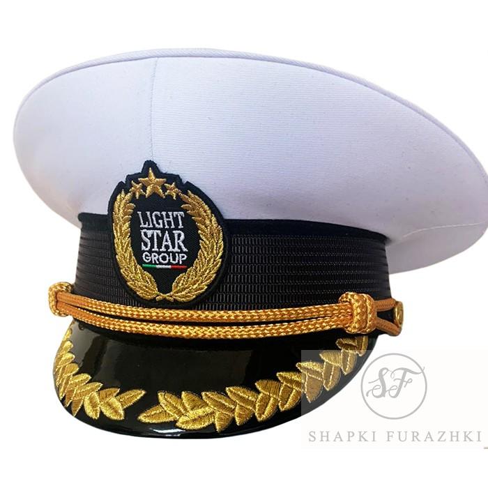 Капитанская фуражка промо с машинной вышивкой кокарды Y284