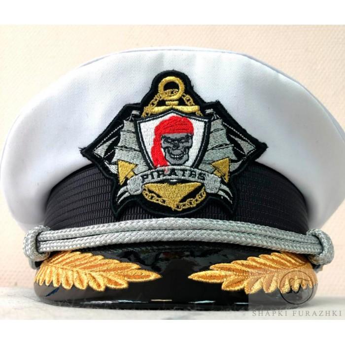 Капитанка с вышивкой кокарды, индивидуальный дизайн