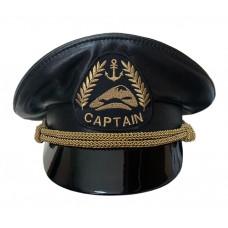 Кожаная капитанка с индивидуально разработанной вышивкой кокарды Y292