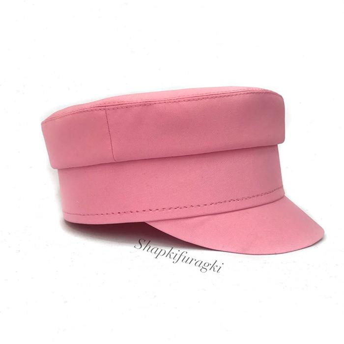 Кепи-картуз женский розовый T006