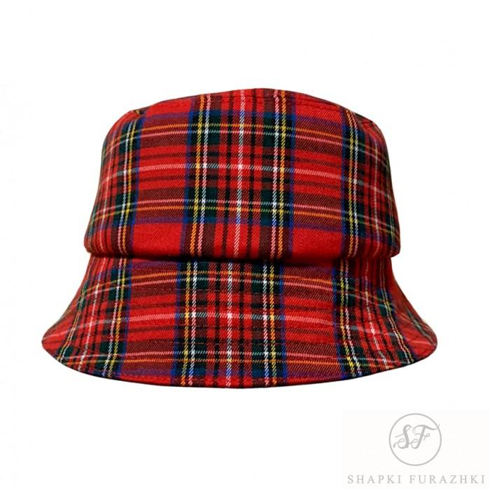 Клетчатая Панама, модная женская шляпка из шотландки