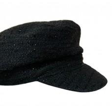 Кепи-картуз черный букле T195